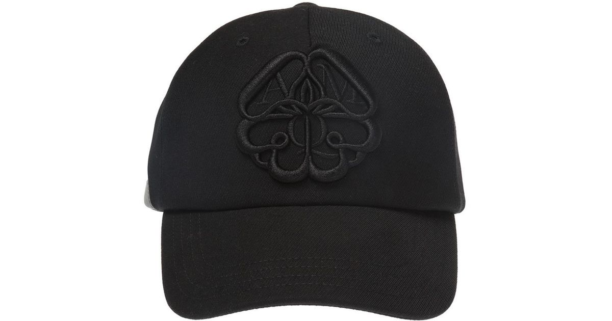 f0accedf472017 Alexander McQueen Embroidered Baseball Cap in Black for Men - Save 23% -  Lyst