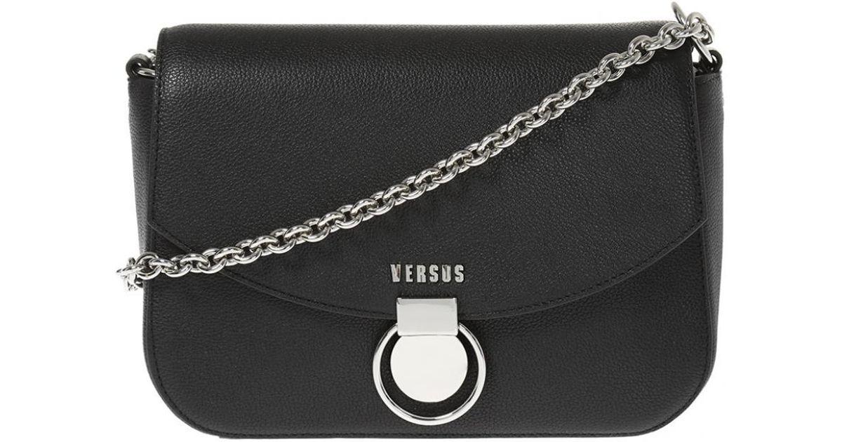 Lyst - Versace Shoulder Bag With Decorative Buckle in Black 84eebe0d774fb