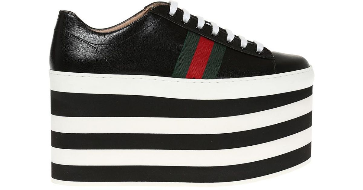a84cd53720ddf Gucci - Black High Platform Sneakers - Lyst
