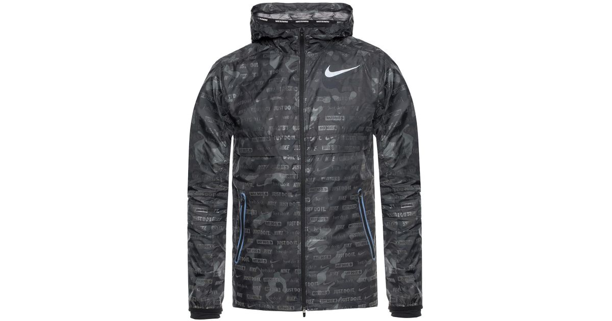 6fb8b684fb49 Nike Camo Rain Jacket in Gray for Men - Lyst
