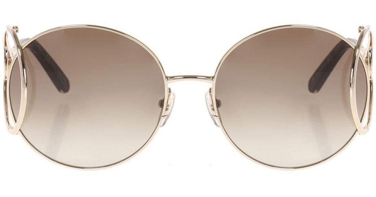 ca4ebbf88e2 Chloé  ce124  Sunglasses in Metallic - Lyst