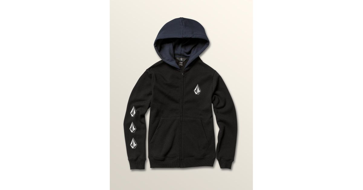 e6203657f Volcom Big Boys Deadly Stones Zip Hoodie in Black for Men - Lyst