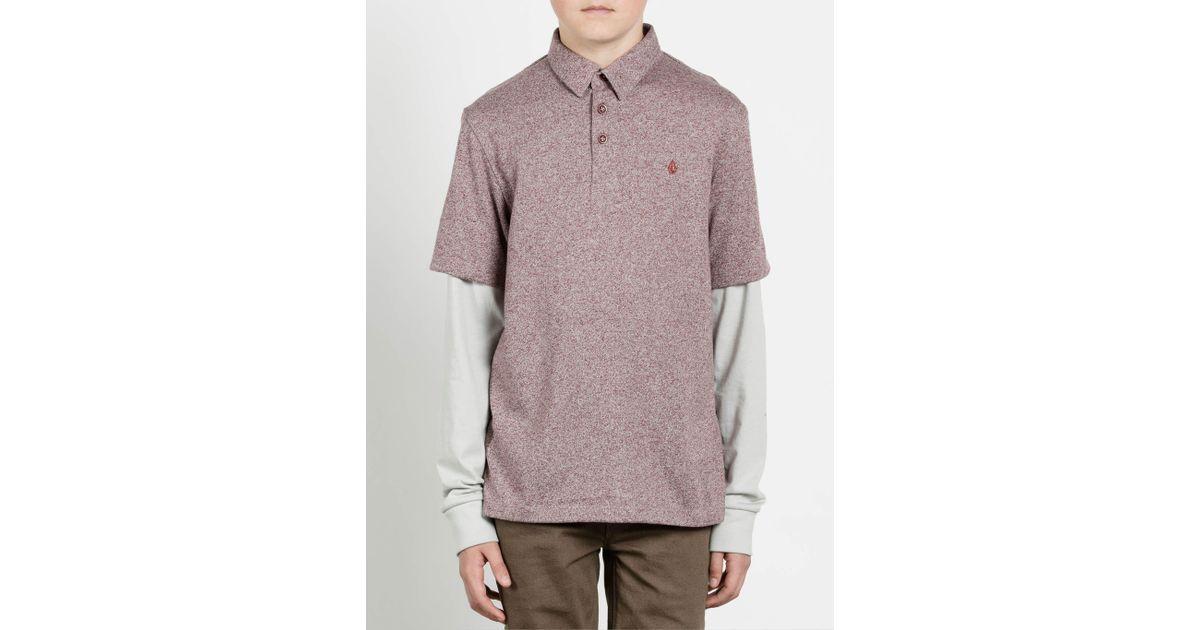 Volcom Big Boys Joben Two Fer Long Sleeve Polo Shirt