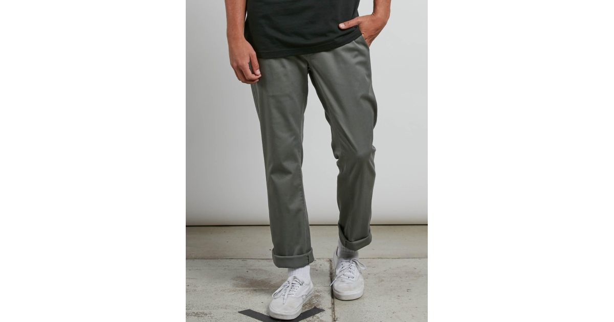 aa41766c Volcom Frickin Modern Stretch Chino Pants in Green for Men - Save 11% - Lyst