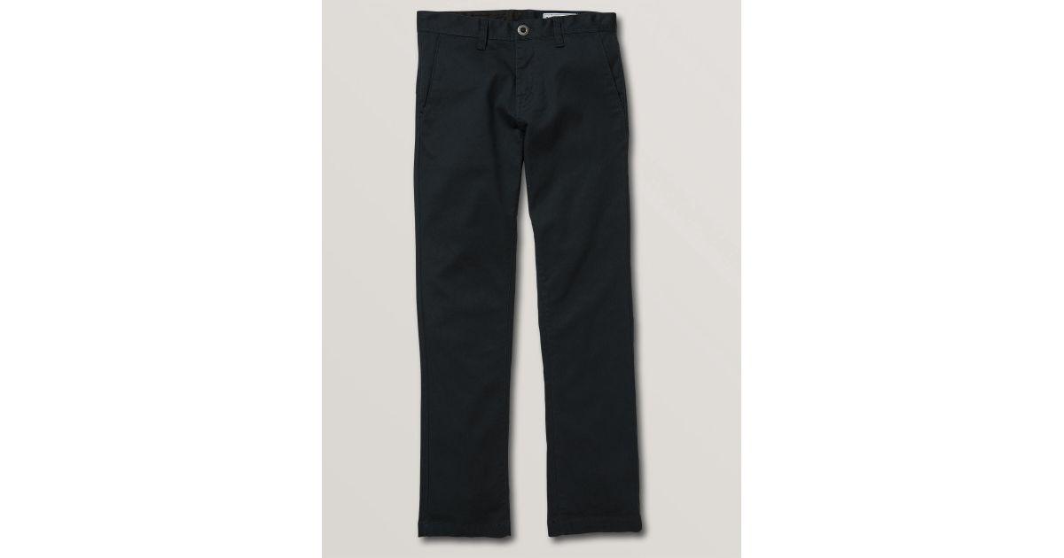 bf589a88 Volcom Big Boys Frickin Modern Stretch Chino Pants in Blue for Men - Lyst
