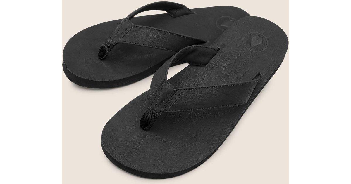 7432117dd1f21 Lyst - Volcom Fathom Sandals in Black for Men