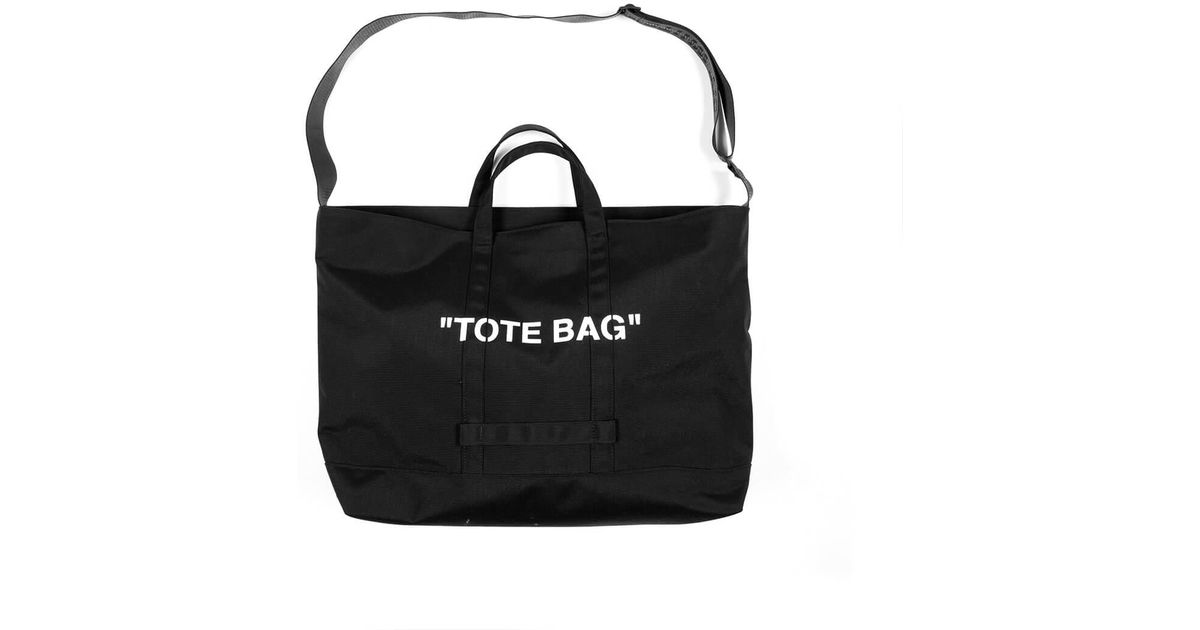 25df72a0a0c2 Lyst - Off-White c o Virgil Abloh Quote Tote Bag in Black for Men