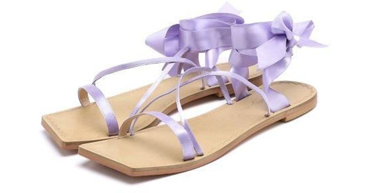 f598f97d891ff0 Marony Croshet  exclusive  Satin Gladiator Sandals 4 Color in Purple - Lyst