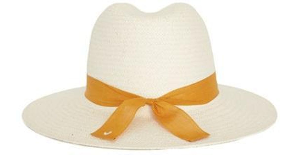 931e1b5cb954b Awesome Needs Signature Fedora Hat White Mustard Strap in White - Lyst