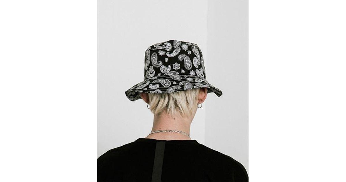 e33dd8de897 VLADVLADES  unisex  Paisley Bucket Hat 01 Black in Black - Lyst