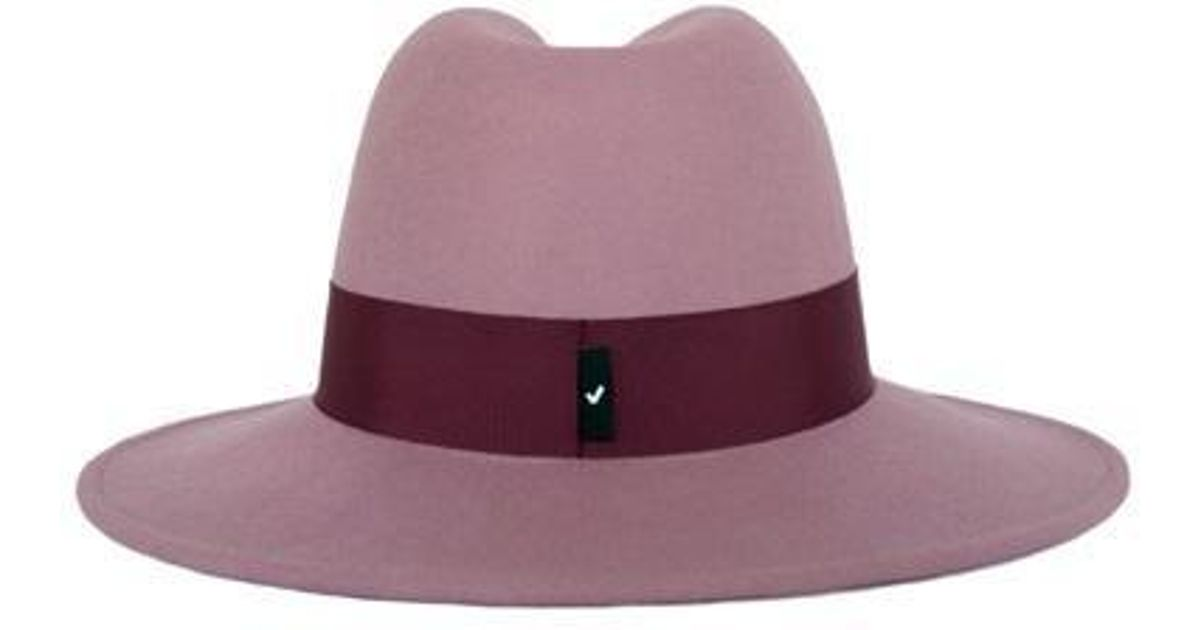 Lyst - Awesome Needs  unisex tmall Wool Felt Fedora Hat Lilac Pink Burgundy  S in Pink fc99e83e331