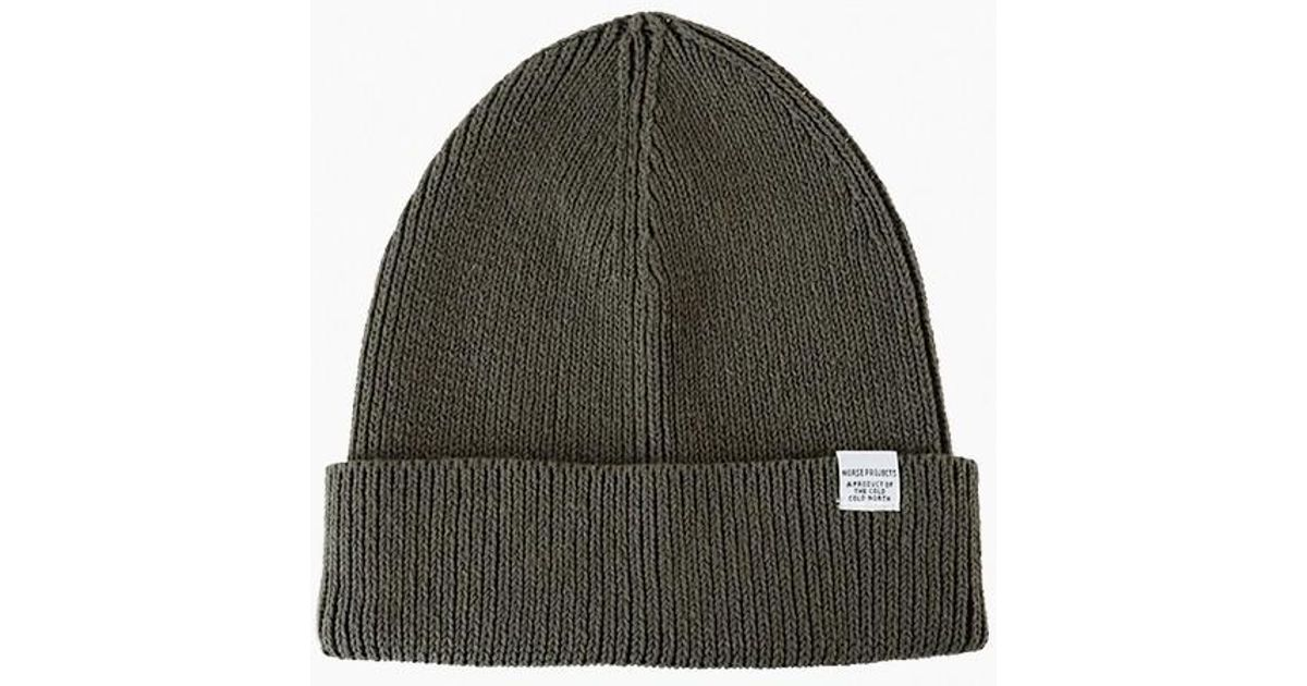 0c7d18601f0 Lyst - Norse Projects Cotton Watch Beanie in Green for Men