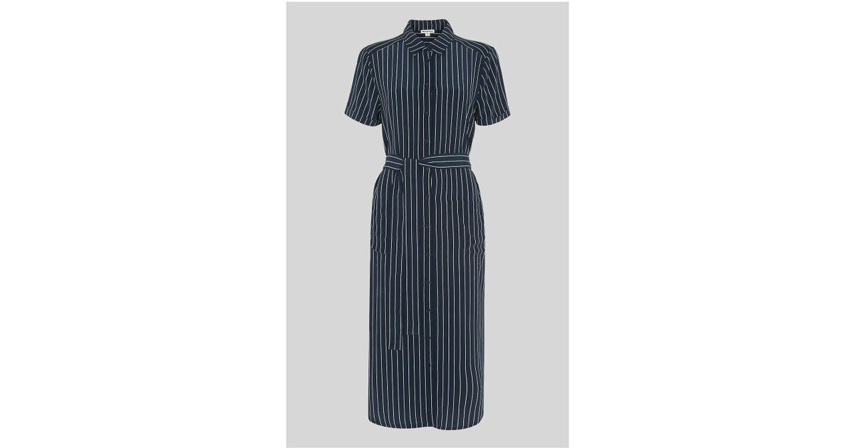 vast selection unbeatable price quality and quantity assured Whistles - Blue Montana Stripe Shirt Dress - Lyst