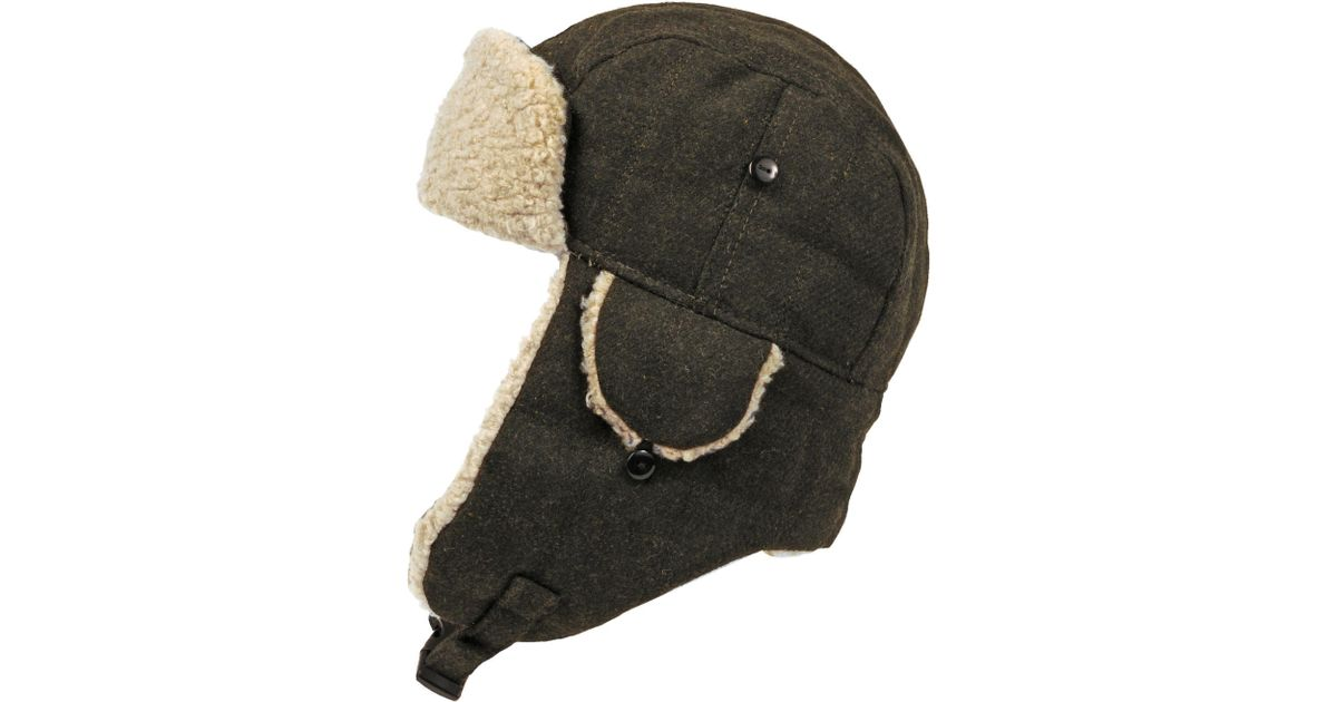 5f4b68fc67c Lyst - Wilsons Leather Quilted Trapper Hat W  Faux-sherpa in Green for Men
