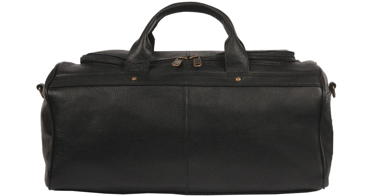 68239ca540 Lyst - Wilsons Leather Pebbled Leather Duffel Bag in Black for Men