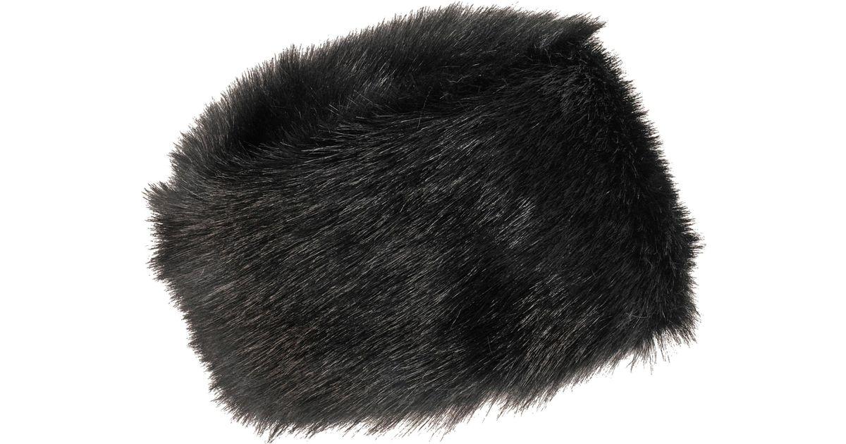d50b5fe5e Wilsons Leather Fabulous Furs Fox Faux-fur Russian Hat in Black - Lyst