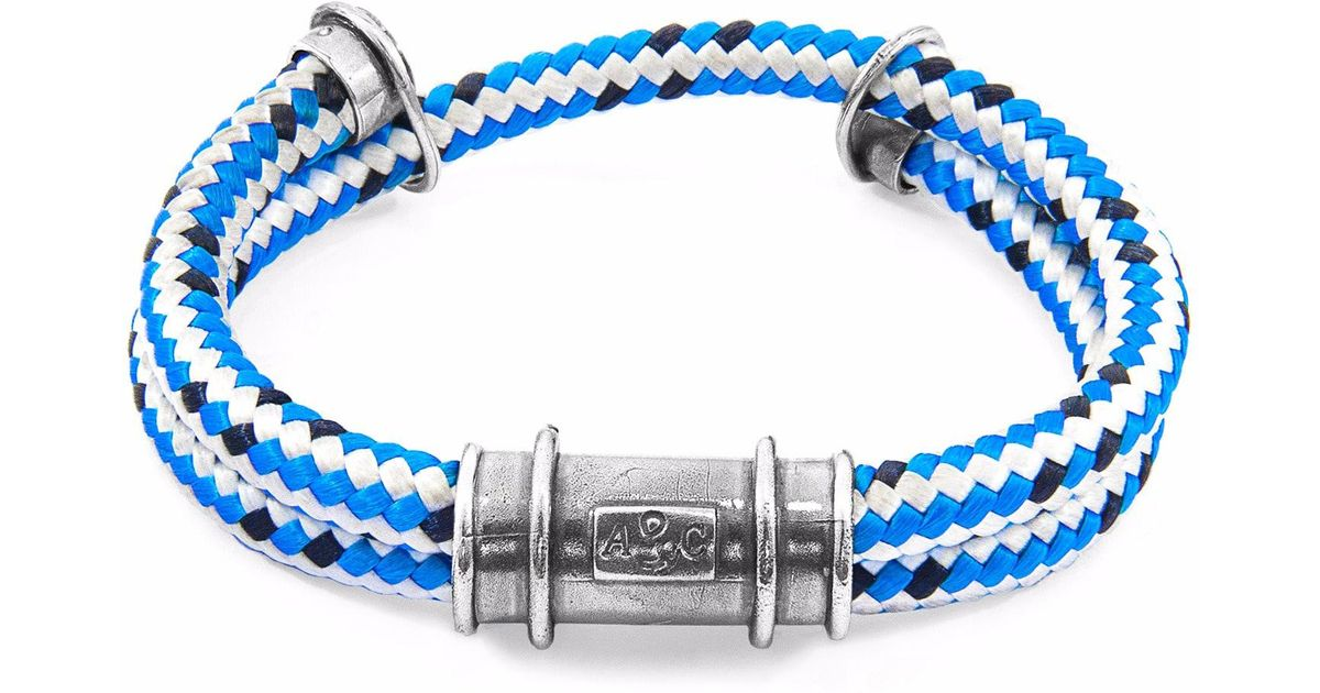 Anchor & Crew Red Larne Silver and Rope Bracelet LC2AwIAc3b