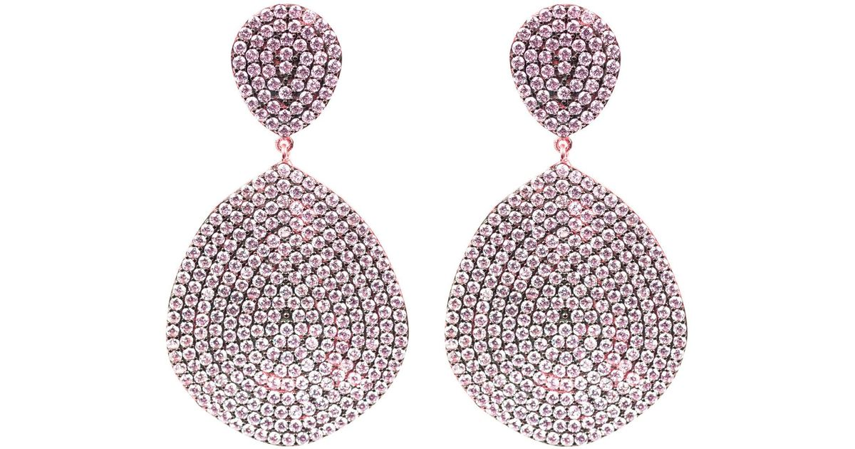 Latelita London Monte Carlo Earring Rose Gold Amethyst Zircon xOkKc50h