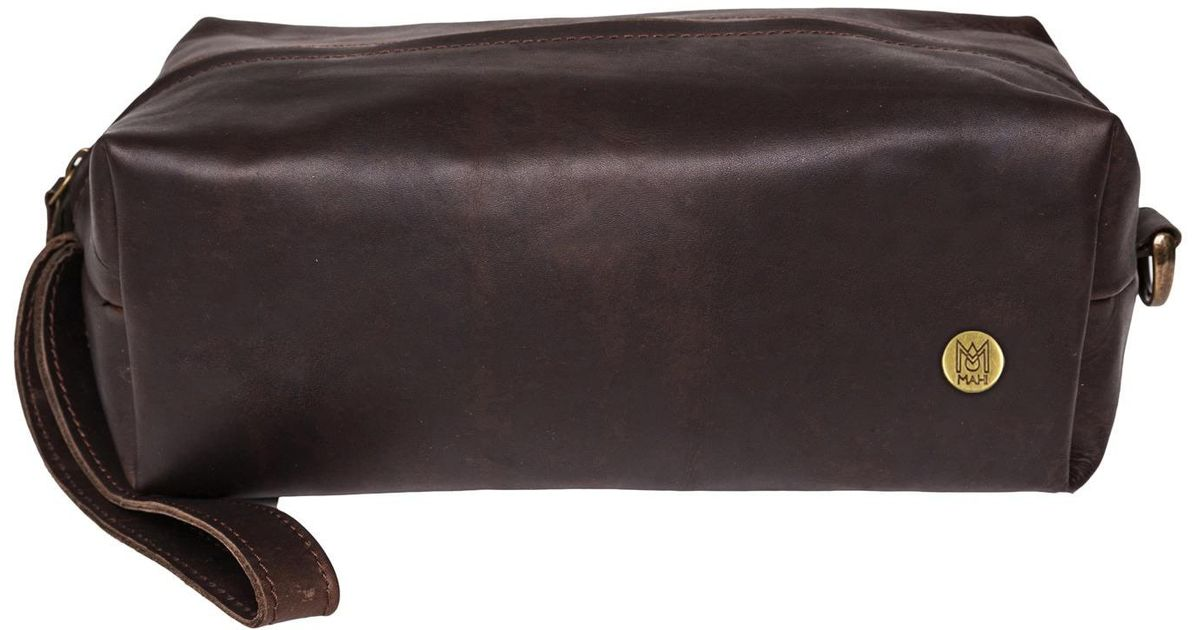 162da5bea8 Lyst - MAHI Leather Classic Wash shaving toiletry Bag Dopp Kit Vintage  Mahogany in Brown for Men