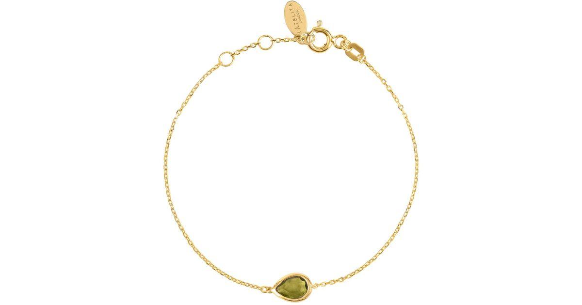 Latelita London Pisa Mini Teardrop Bracelet Gold Citrine GfDcFw