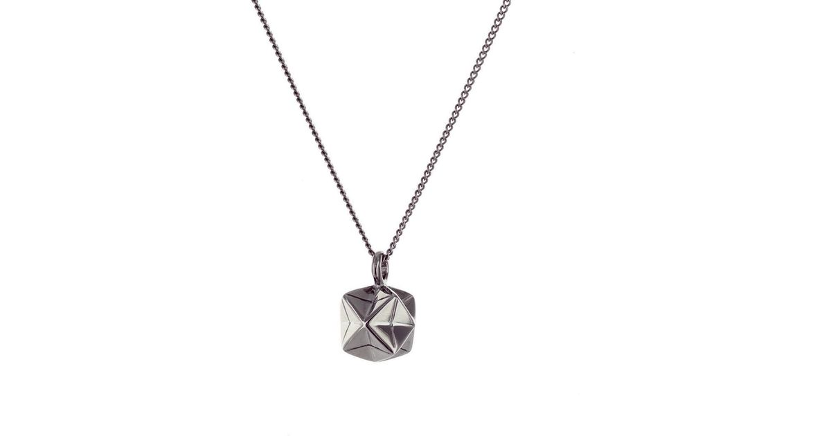 Origami Jewellery Black Silver Mini Magic Ball Origami Necklace BFXGVHIqUu