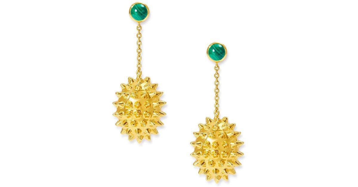 Alexandra Alberta Chrysler Malachite Earrings 2gYNDx