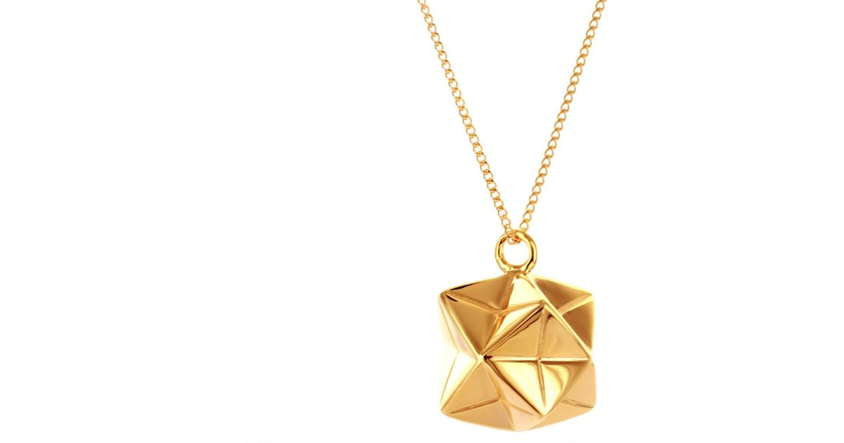 Origami Jewellery Sterling Silver & Pink Gold Mini Magic Ball Origami Necklace AmGBrnsKa