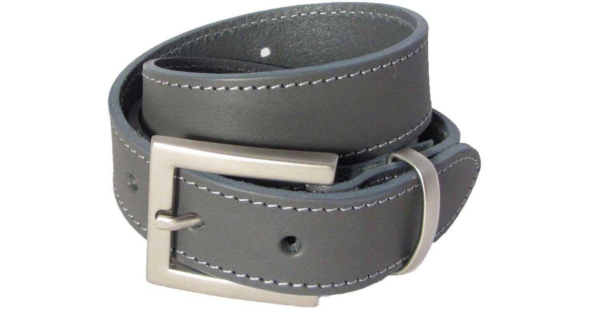 fb26ee8803f3e N damus London The Orion Grey Belt Silver Buckle in Gray for Men - Lyst