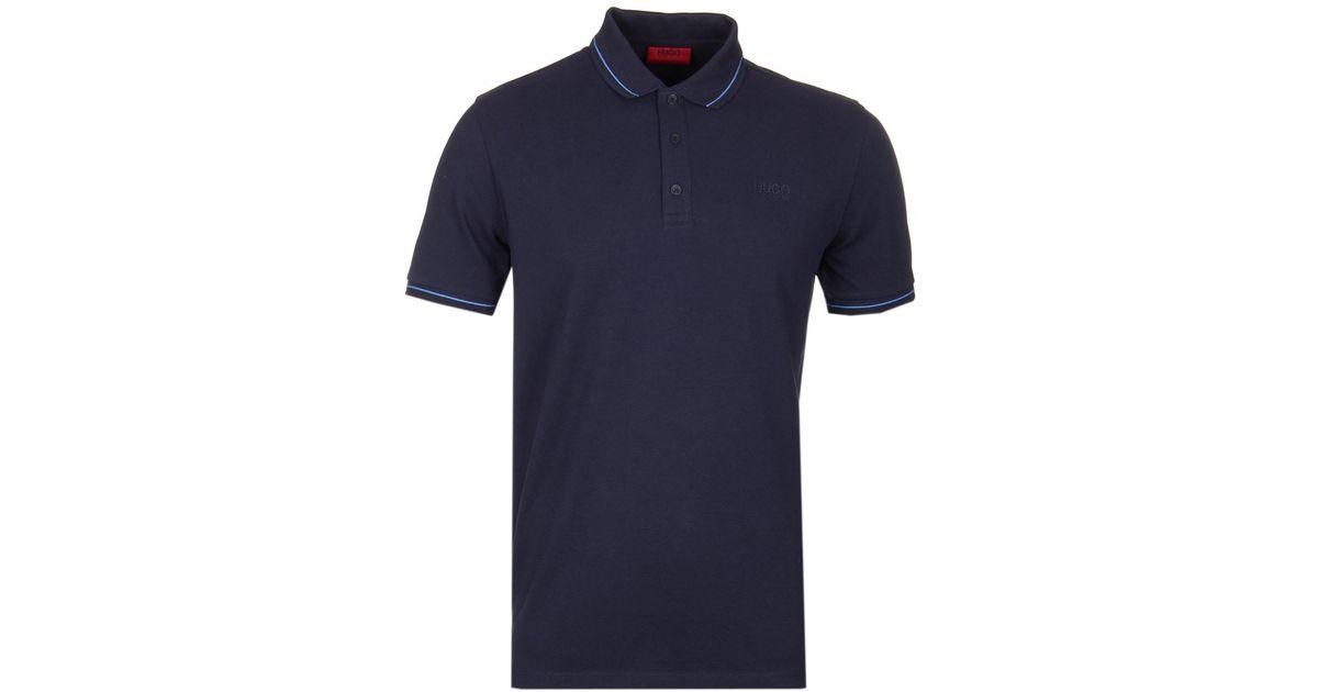 739121ed8 HUGO Daruso Navy Polo Shirt in Blue for Men - Lyst