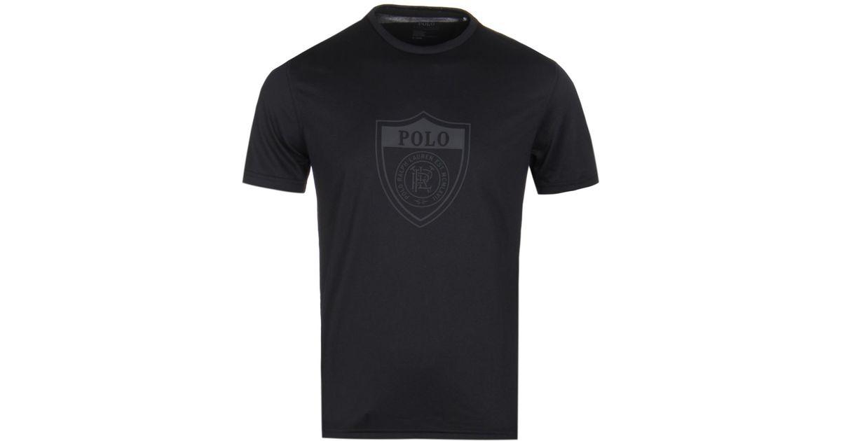 2a2724b4 Lyst - Polo Ralph Lauren Shield Tech Black Performance Top in Black for Men