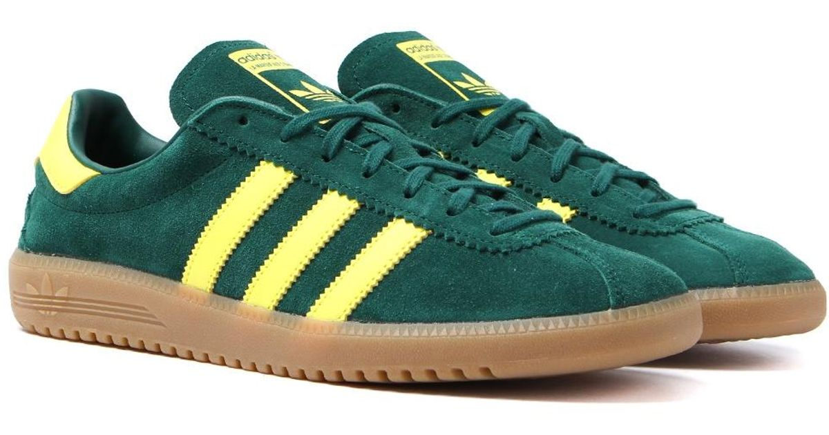 Lyst - adidas Originals Bermuda Collegiate Green   Shock Yellow Trainers in  Green for Men 20d51ef81