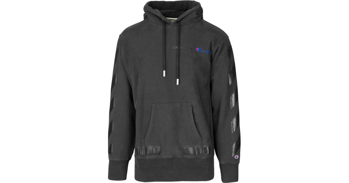 9b968acd54ad Lyst - Off-White c o Virgil Abloh Champion Arrows Hoodie in Black for Men