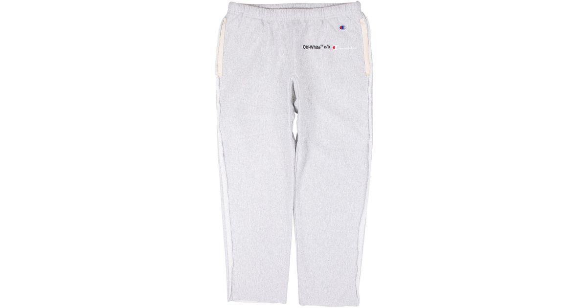 db1931d829d062 Off-White c/o Virgil Abloh Champion Sweatpants for Men - Lyst