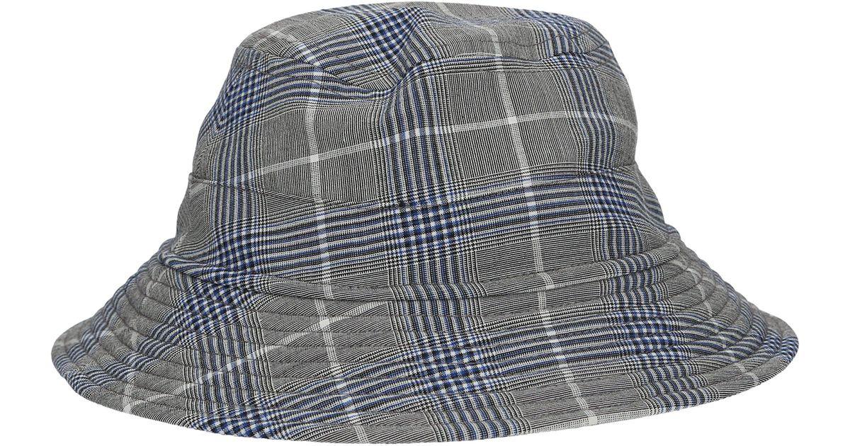 12a0bbc3906d4 Lyst - Band of Outsiders Seersucker Wool Bucket Hat in Blue