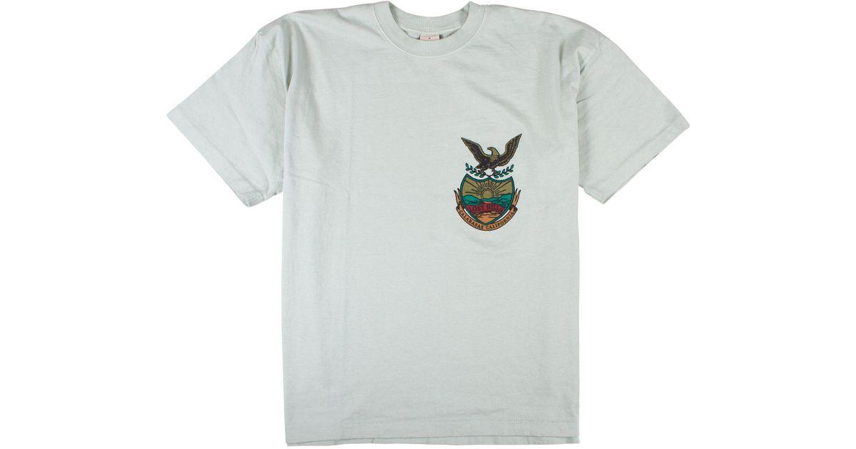 01d238e2 Yeezy 'calabasas Lost Hills' Crest T-shirt in Blue for Men - Lyst