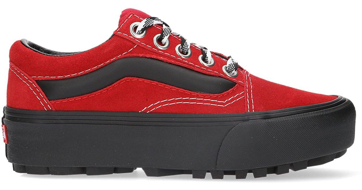 9e965df686c2 Lyst - Vans 90s Retro Old Skool Lug Platform in Red for Men
