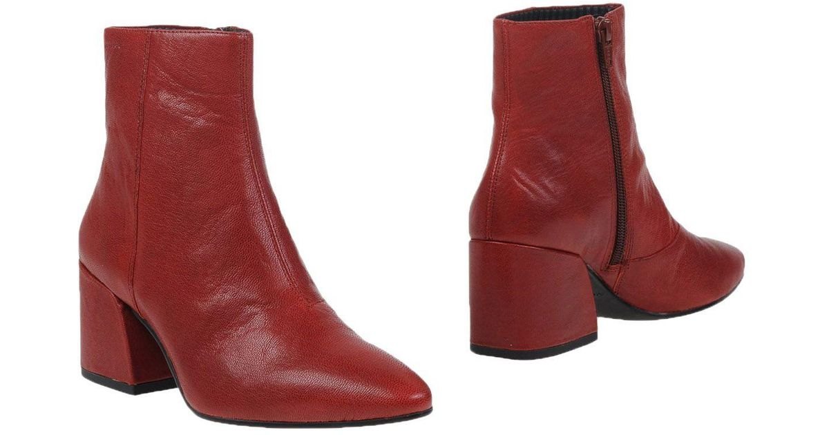 vagabond ankle boots in red lyst. Black Bedroom Furniture Sets. Home Design Ideas