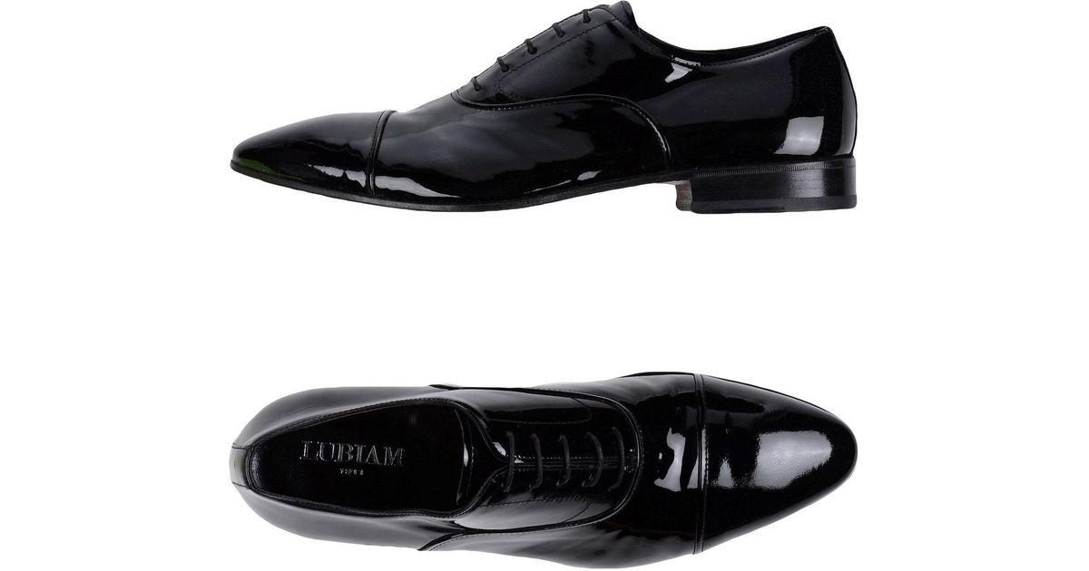 LUBIAM Laced shoes Black Men