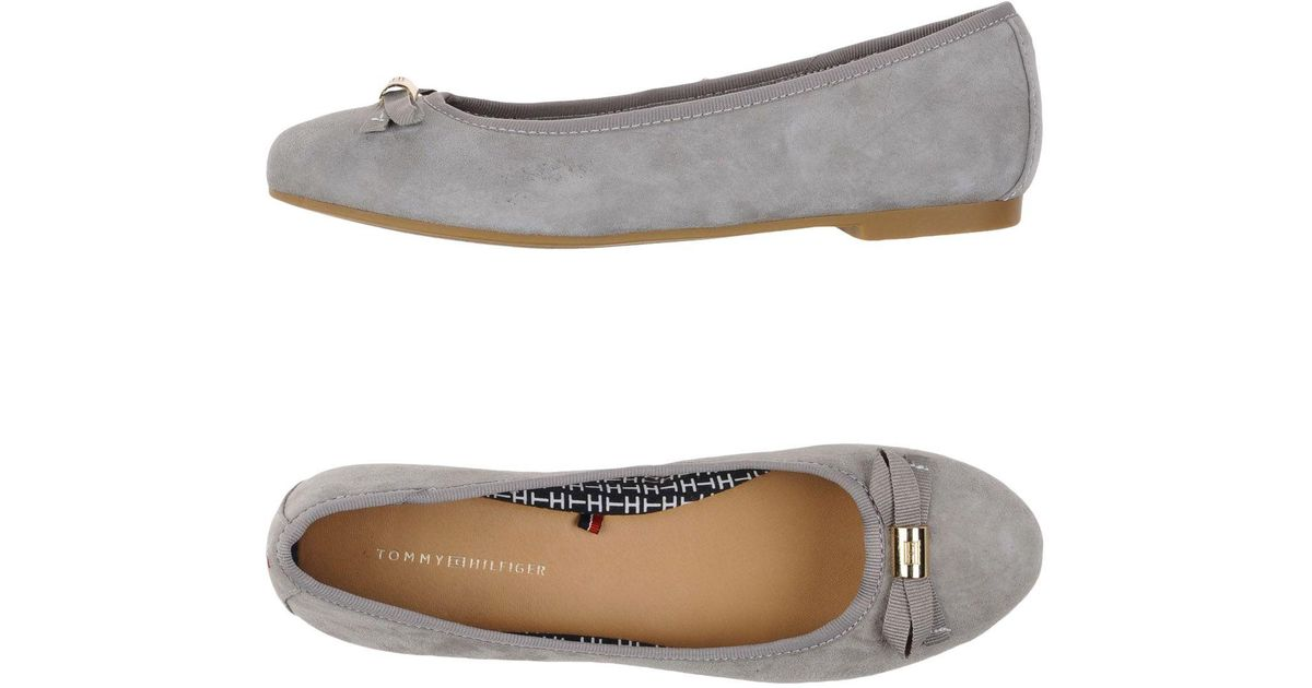tommy hilfiger ballet flats in gray lyst. Black Bedroom Furniture Sets. Home Design Ideas