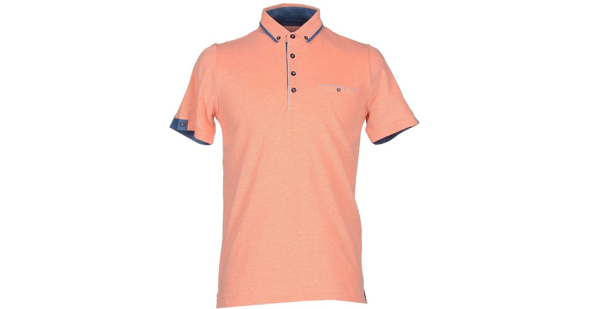 Andrea Fenzi Polo Shirt In Pink For Men Salmon Pink Lyst