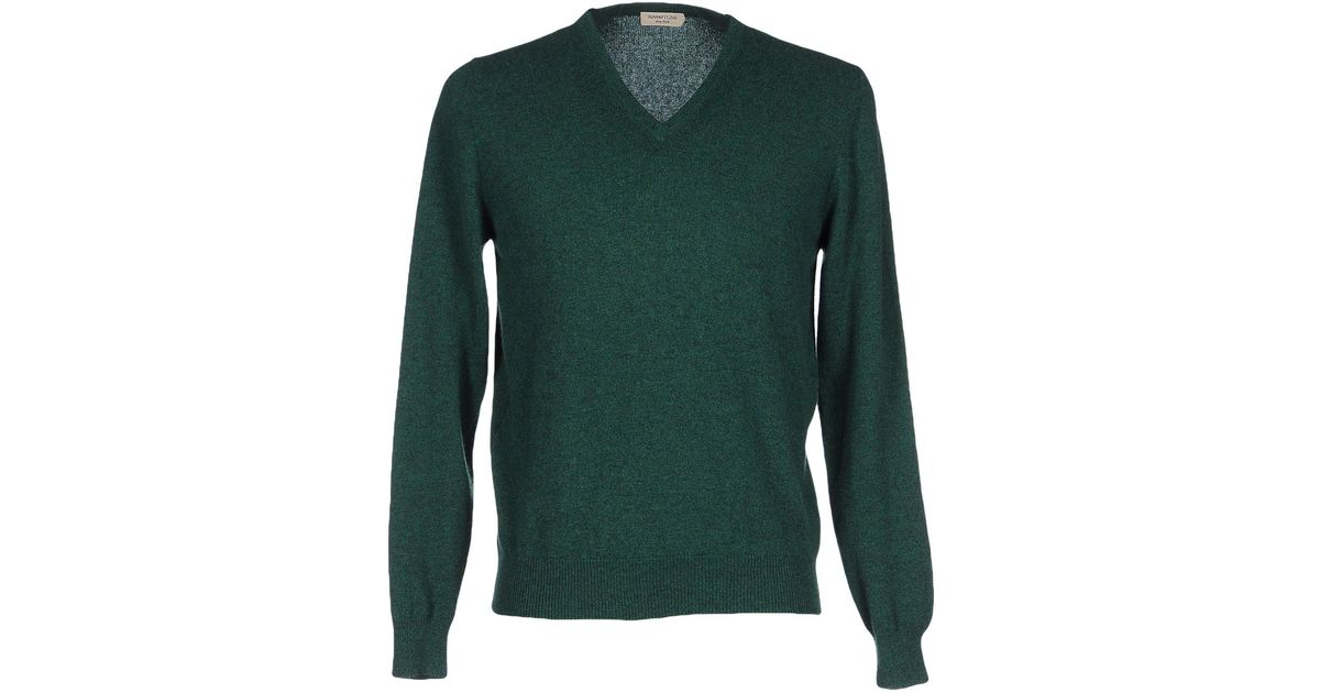 Hamptons jumper in multicolor for men emerald green lyst Emerald green mens dress shirt