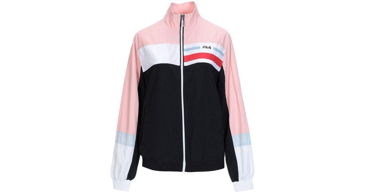 7d707cc9eeb9 Fila Jacket in Pink - Lyst