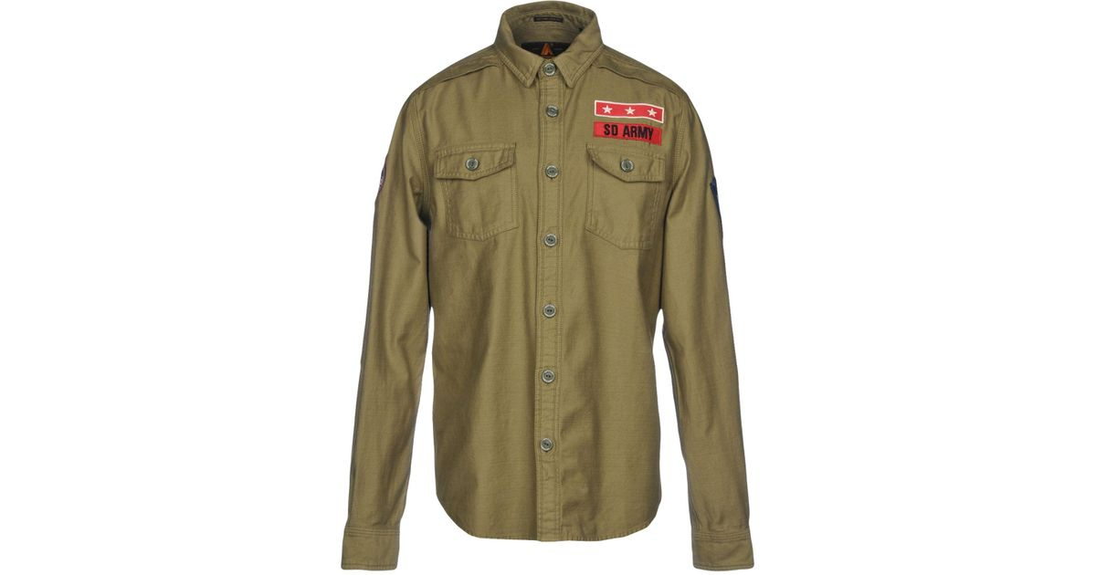4df8e1e2 Superdry Sd Army Corps Sport Shirt in Green for Men - Lyst