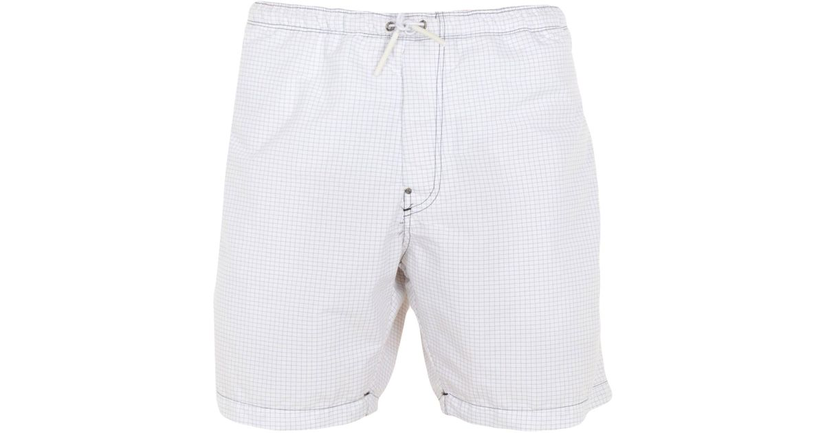 65f8f74a8095e G-Star RAW Swimming Trunks in White for Men - Lyst