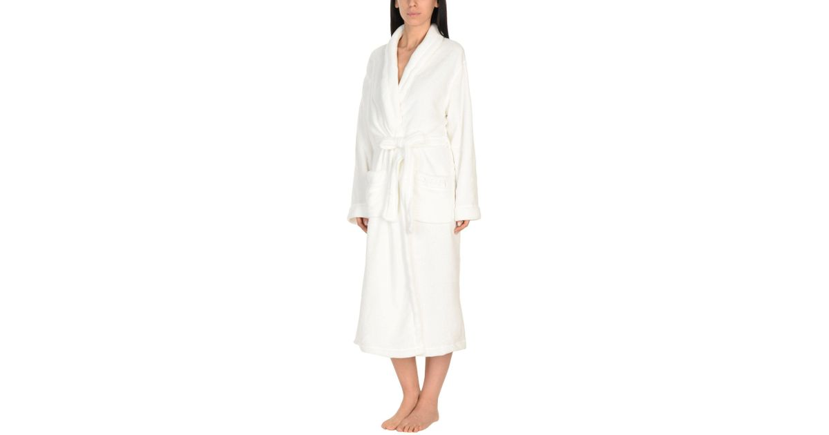 Dkny Dressing Gown in White - Lyst