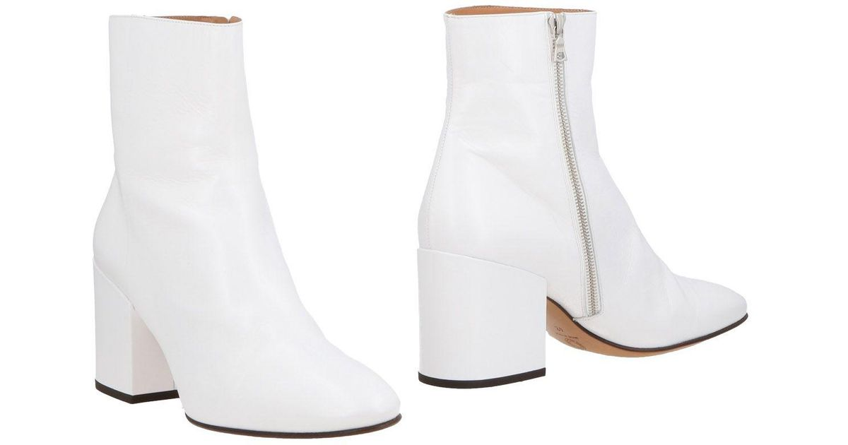 bd08bd0904 Dries Van Noten Ankle Boots in White - Lyst