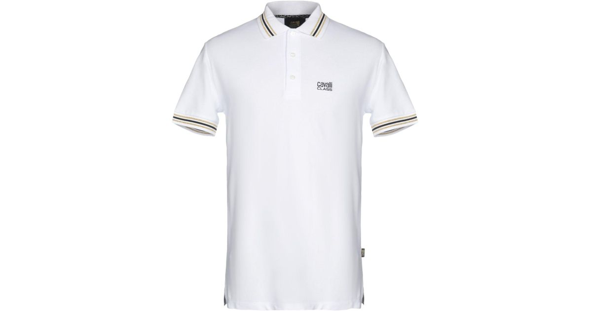 be02c1b8 Class Roberto Cavalli Polo Shirt in White for Men - Lyst