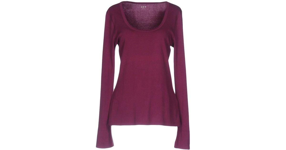 Lyst Three Dots T Shirt In Purple