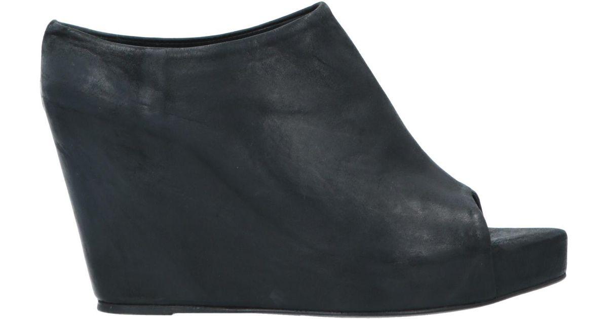 Lyst Conspiracy Black Sandals Last The dQxsCthr