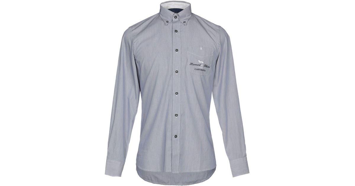 c5be17781 Lyst - Harmont & Blaine Shirt in Blue for Men